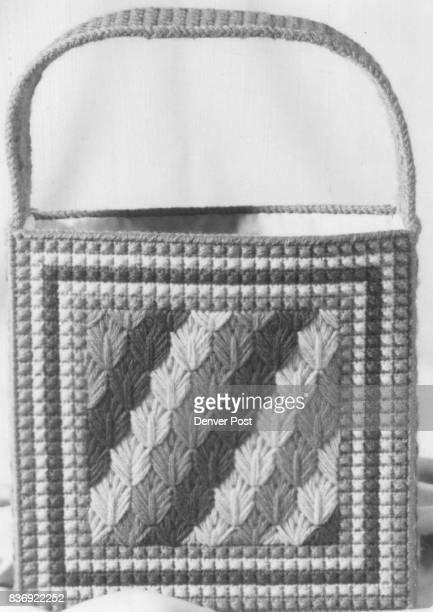 The leaf stitch tote bag is done in easy to learn pattern stitches Credit The Sunday Denver Post