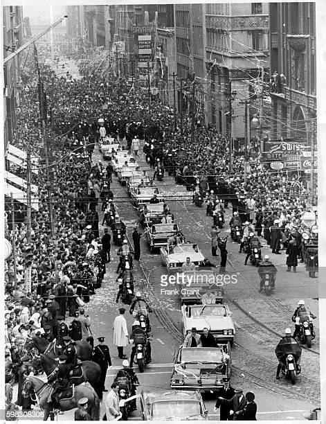 The Leafs' victory parade on Bay St bound for City Hall in 1963 Frank Grant/Toronto Star File Photo