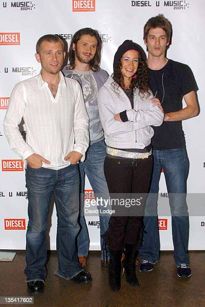 The Leah Wood Group during Diesel U Music Awards 2004 Arrivals at Fabric Nightclub in London Great Britain
