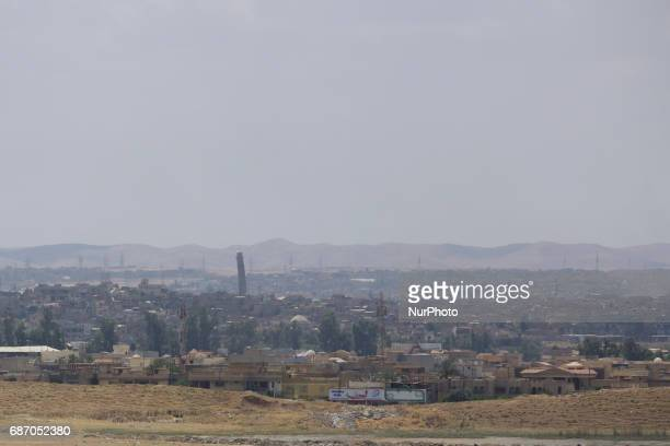 The leaning minaret of Great Mosque of alNuri in Mosul where the ISIS leader Abu Bakr alBaghdadi declared the Caliphate from in 2014 Mosul Iraq 21...