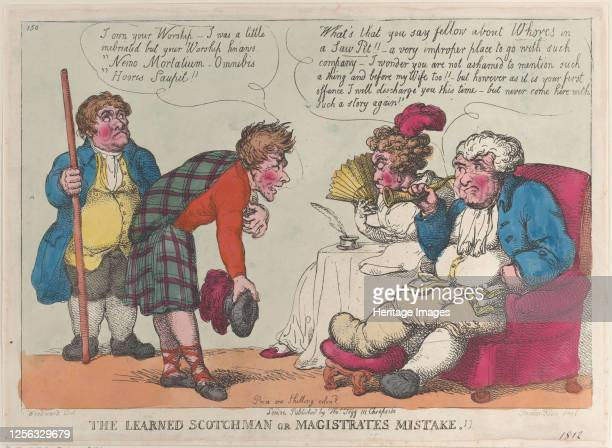 The Learned Scotchman or Magistrates Mistake 1812 Artist Thomas Rowlandson