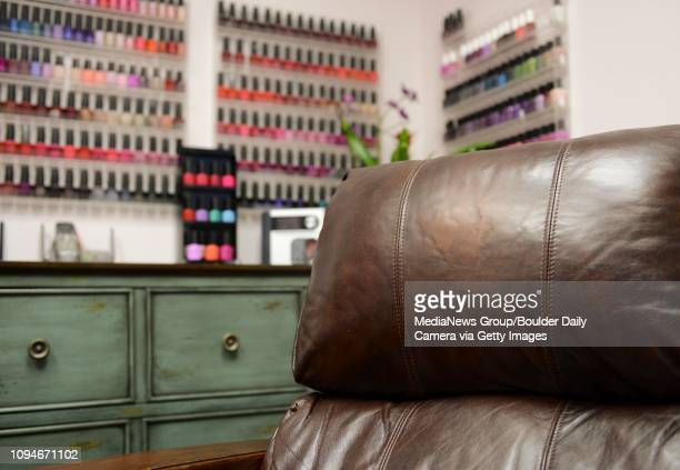 The leather chair in Aesthetics by Aisha at Sola Salon Studios 3280 28th St #11 Thursday morning August 20 2015