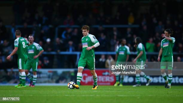 The Leatherhead team are dejected during The Emirates FA Cup Second Round between Wycombe Wanderers and Leatherhead at Adams Park on December 3 2017...