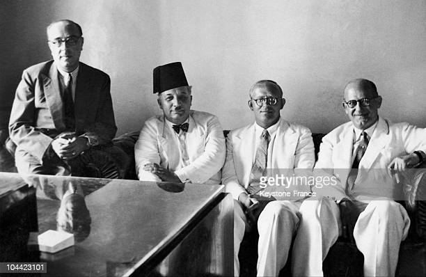 The Lebanese Prime Minister Riad Solh And The Lebanese Vice President Habib Abi-Chahla In 1944.