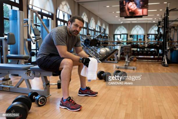 the Lebanese Prime Minister Saad Hariri is photographed for Paris Match at the gym on november 27 2017 in Beirut Lebanon
