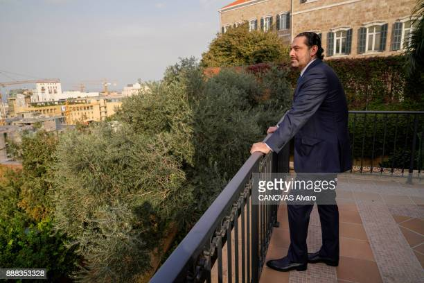 the Lebanese Prime Minister Saad Hariri is photographed for Paris Match at home on november 27 2017 in Beirut Lebanon