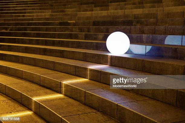 The Led ball going up the stairs