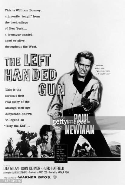 The Left Handed Gun poster from left center Lita Milan Paul Newman 1958