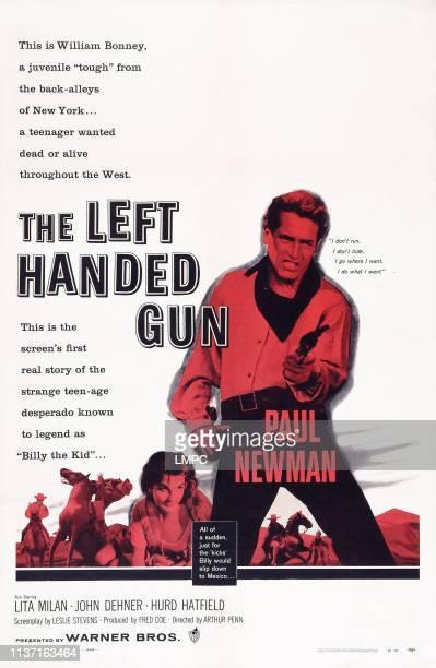 The Left Handed Gun poster US poster art from left Lita Milan Paul Newman 1958