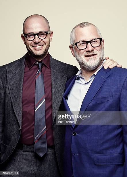 'The Leftovers' creators Damon Lindelof and Tom Perrotta pose for a portrait at the 75th Annual Peabody Awards Ceremony at Cipriani Wall Street on...