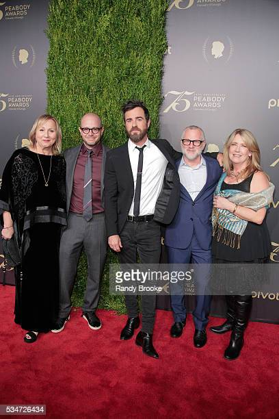 The Leftovers EP Director Mimi Leder CoCreator EP Showrunner Damon Lindelof Actor Justin Theroux CoCreator and EP Tom Perrotta and Actress Ann Dowd...