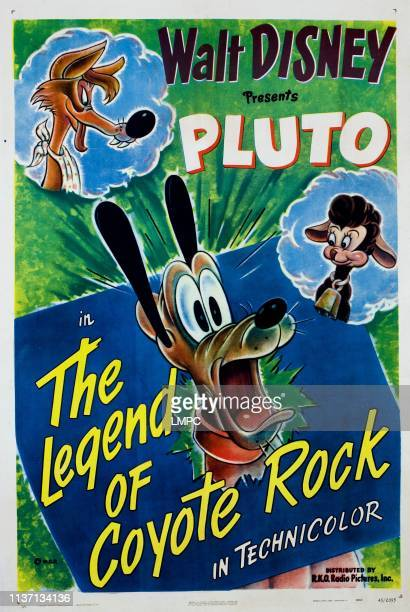 The Legend Of Coyote Rock poster Pluto 1945