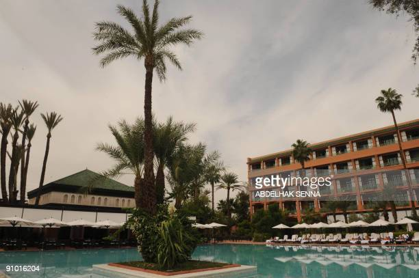 The legendary Marrakesh hotel La Mamounia is seen on September 19 2009 before its reopening on September 27 following a threeyear renovation led by...