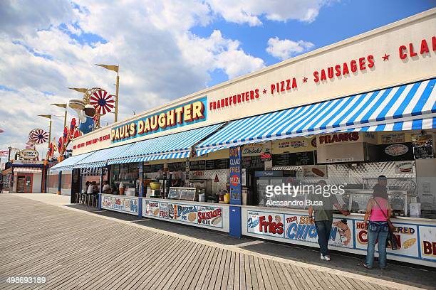 The legendary Paul's Daughter, on the Coney Island Boardwalk. The 50-year-old family-owned stand has been recently renewed.