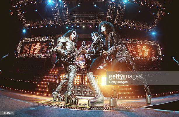 The legendary rock band Kiss perform at the HSBC arena in Buffalo NY June 24 2000
