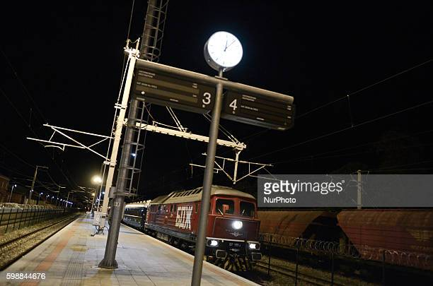 The legendary Venice SimplonOrientExpress arrived at the Bulgarian border train station near Svilengrad on its way back from Istanbul to Venice The...