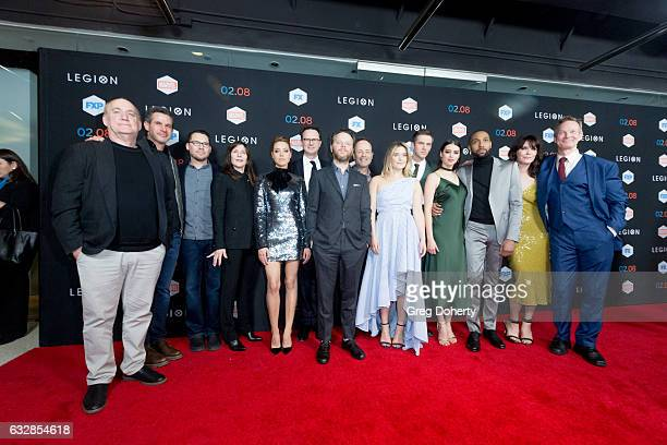 The Legion cast and team arrive for the Premiere Of FX's Legion at Pacific Design Center on January 26 2017 in West Hollywood California