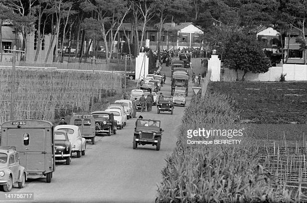 The legionnaires from the 1st REP arriving at Zeralda military camp after taking part in the military push on April 28 1961 in Algiers Algeria