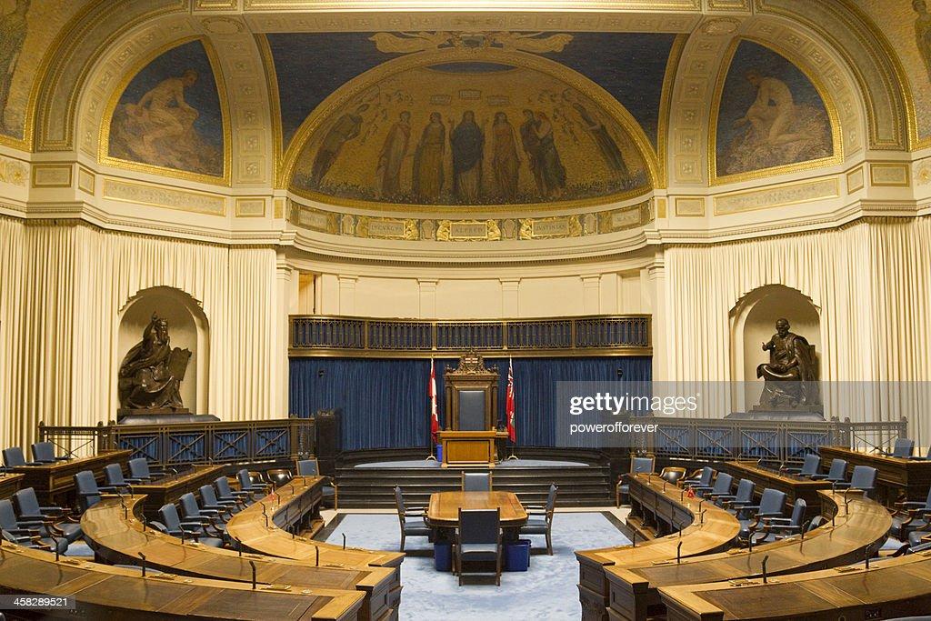 Die Legislative Chamber of Manitoba Parliament Gebäude : Stock-Foto