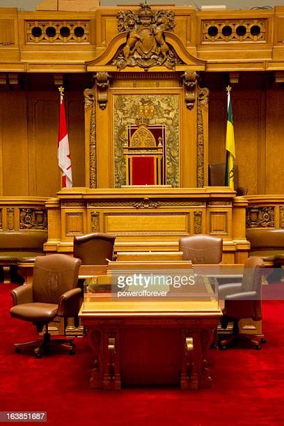 the legislative chamber of saskatchewan parliment building - regina saskatchewan stock pictures, royalty-free photos & images
