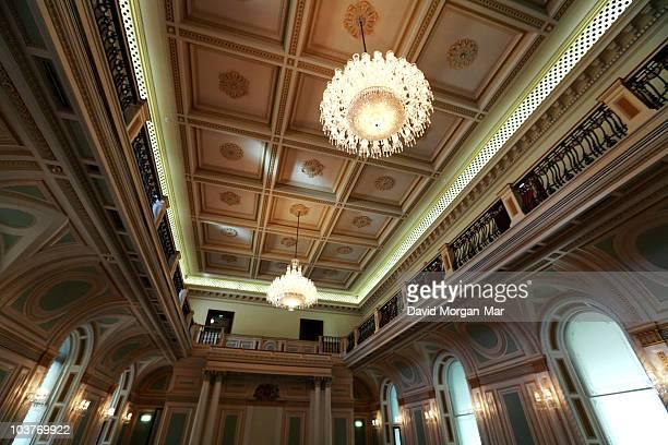 The Legislative Council chamber of the State Parliament of Queensland, Australia. Brisbane, 2008.