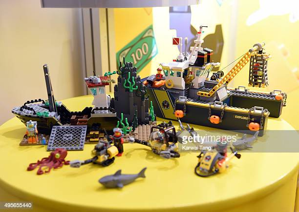 The Lego City Deep Sea Exploration Vessel is one of the top 12 Dream Toys 2015 revealed at St Marys Church on November 4 2015 in London England