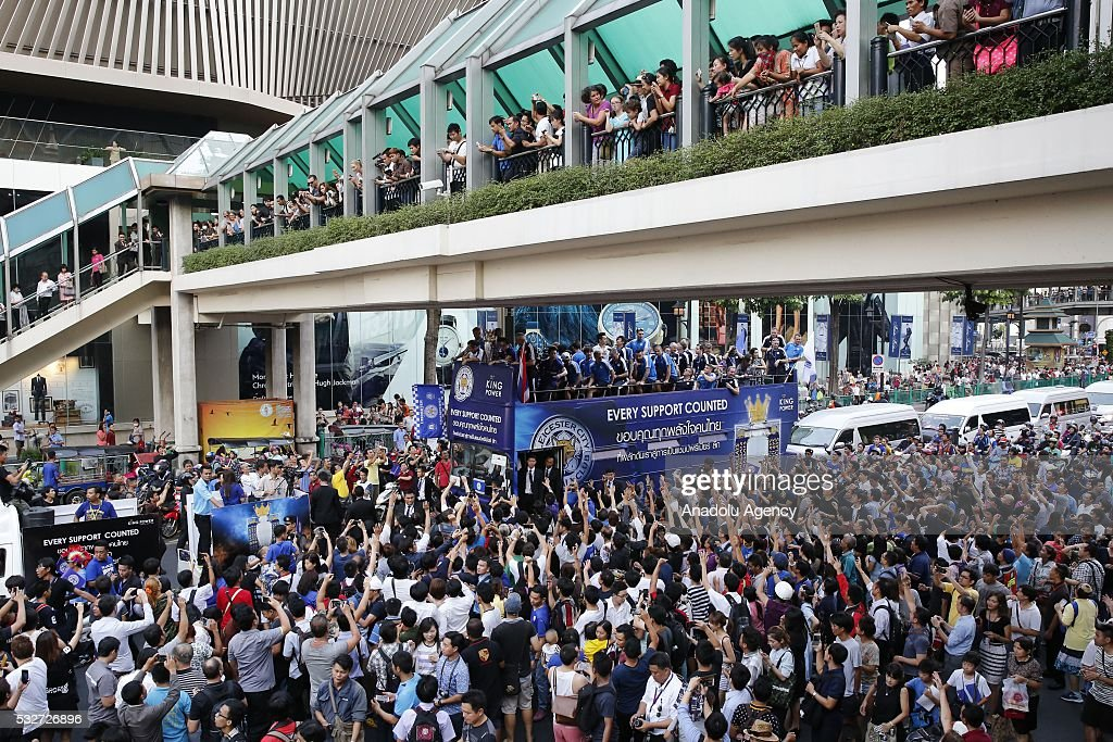 The celebration of Leicester City league trophy in Bangkok : News Photo
