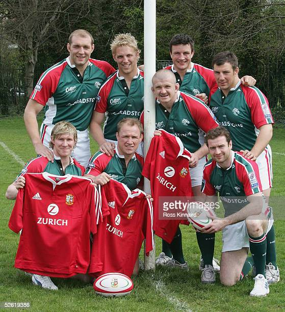 The Leicester Tigers players who have been selected for the British Lions Squad Ben Kay, Lewis Moody, Graham Rowntree, Martin Corry and Julian White....