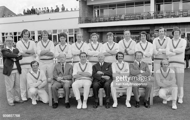 The Leicestershire cricket team during the Benson and Hedges Cup Semi Final between Leicestershire and Warwickshire at Grace Road, Leicester, 28th...