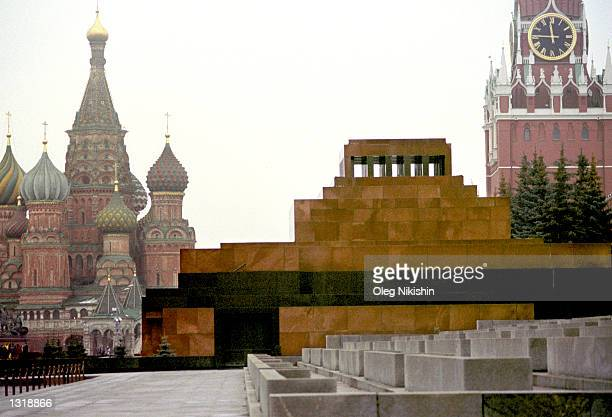 The Lenin Mausoleum center stands in Red Square December 14 2000 in Moscow Russia The country''s State Duma will hear debates December 15 2000 on a...