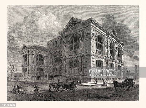 The Lenox Library Fifth Avenue New York City Drawn By Benjamin Day US USA America United States American Engraving 1880