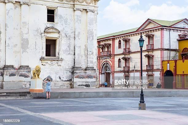 the leon cathedral of leon - nicarágua - fotografias e filmes do acervo