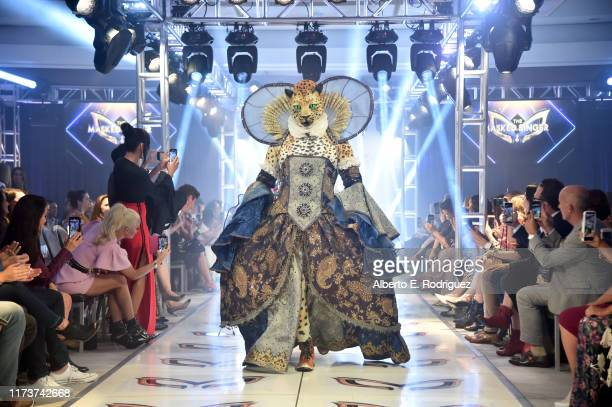 The Leopard participates in a runway show for the premiere of Fox's The Masked Singer Season 2 at The Bazaar at the SLS Hotel Beverly Hills on...