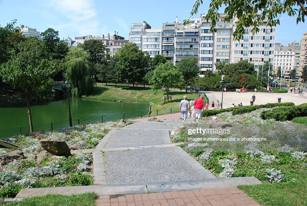 The Leopold park of Ostend : Foto stock