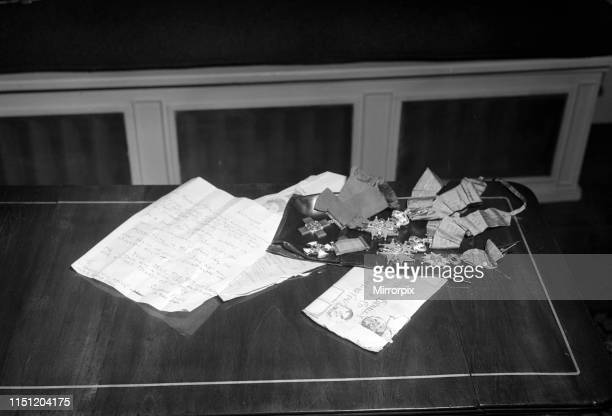 The letter and medals which were returned to Odette and Peter Churchill after they were stolen by thieves The letter was sent to Odette's mother...