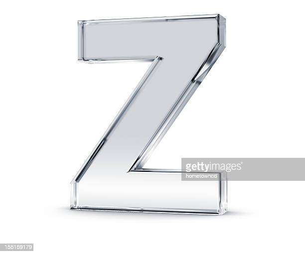 The letter z made out of something clear