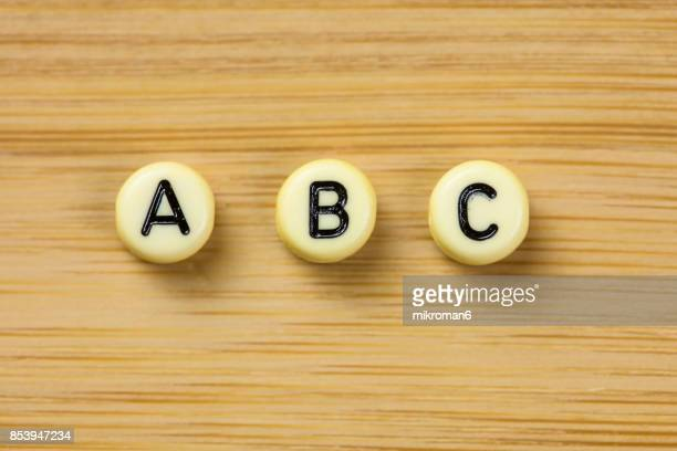 The letters 'ABC'