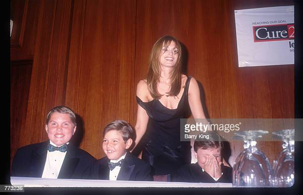 The Leukemia Society honors supermodel Cindy Crawford November 12 1994 in Los Angeles CA Crawford lost her younger brother to the disease