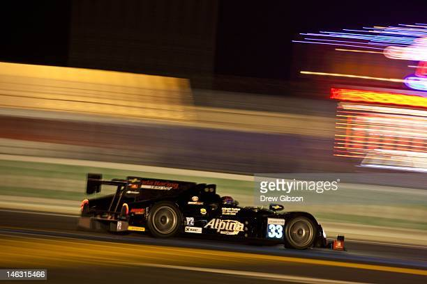 The Level 5 Motorsports HPD ARX 03b Honda driven by Scott Tucker of America Christophe Bouchut of France and Luis Diaz of Mexico during practice for...