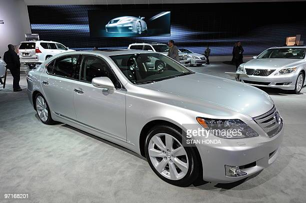 The Lexus LS 600H hybrid during the the second press preview day at the 2010 North American International Auto Show January 12 2010 at Cobo Center in...