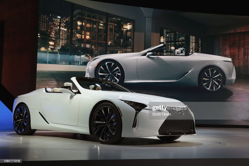 The North American International Auto In Detroit Hosts Automakers Debuting Latest Vehicles : News Photo