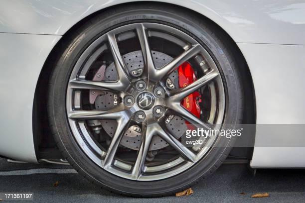 The Lexus LFA sport car wheel