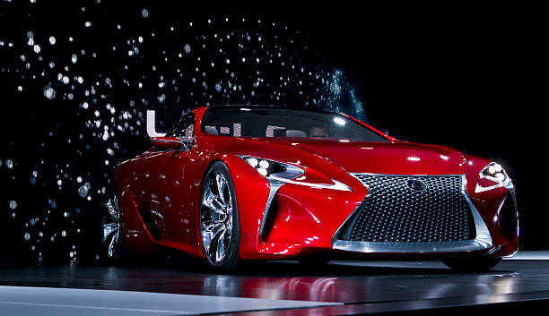 The Lexus LF-LC concept drives onto the stage at The North American ...