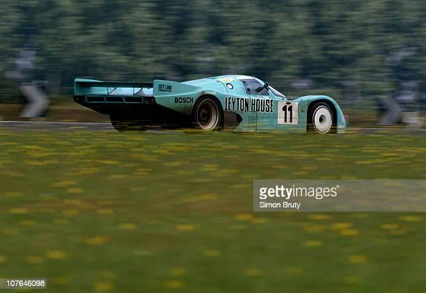 The Leyton House Kremer Porsche Racing Porsche 962C driven by George Fouche Franz Konrad and Wayne Taylor during the FIA World Sportscar Championship...