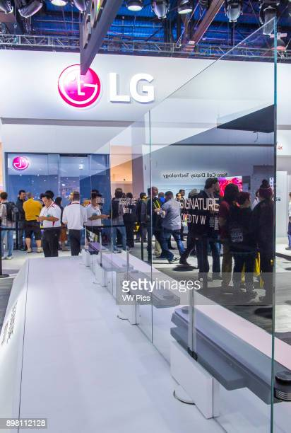 The LG booth at the CES show in Las Vegas CES is the world's leading consumerelectronics show