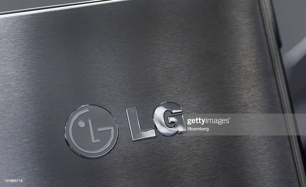 The LG Electronics Inc. logo is displayed on a refrigerator at a Sears Holdings Corp. store in Jersey City, New Jersey, U.S., on Tuesday, Jan. 24, 2012. The U.S Census Bureau is scheduled to release durable goods data on Jan. 26. Photographer: Victor J. Blue/Bloomberg via Getty Images
