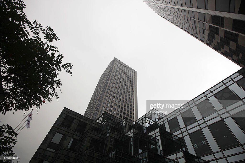 The LG Twin Towers, which houses LG Corp. subsidiaries including LG Electronics Inc., LG Display Co., LG Chem Ltd. and LG Household & Health Care Ltd., stands in Seoul, South Korea, on Wednesday, July 24, 2013. LG Electronics, the worlds second-largest television maker, posted second-quarter profit that missed analyst estimates on slowing demand for sets and increased spending on marketing for smartphones. Photographer: Woohae Cho/Bloomberg via Getty Images