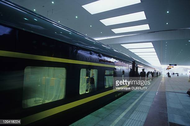 The Lhasa Beijing train in Lhasa train station Tibet in China