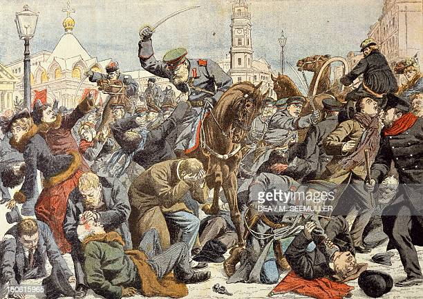 The liberal movement in Russia fighting in St Petersburg Russian Revolution of 1905 Russia 20th century