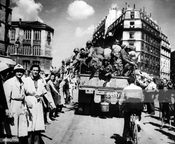 The liberation of Paris August 1944 Jubilant crowds take to the streets to welcome their Allied liberators